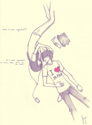 couple, cute, drawing, heart, japan, love