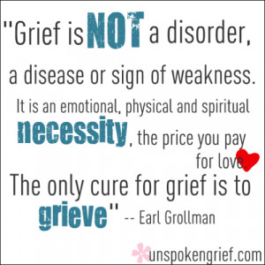 Favorite Quotes: The Only Cure for Grief