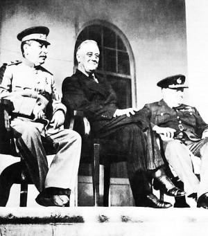 Tehran Conference: Stalin, Roosevelt, Churchill