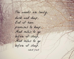 Robert Frost, another favorite of mine.