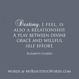The Relationship of Destiny...