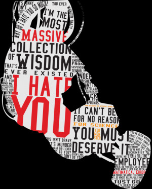 Glados Quotes Glados quote silhouette by