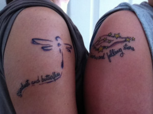 Mother daughter tattoo @dragonfly @ stars @quoteStar Quotes, Stars ...