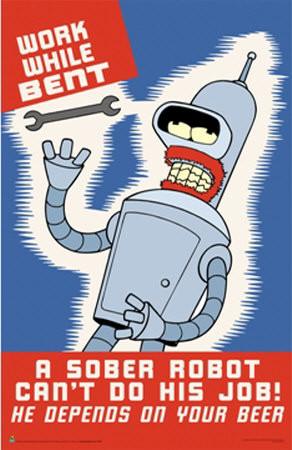 Futurama Super Heavy Weight Bender Die-Cast Metal Figure