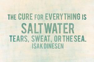 Isak Dinesen Saltwater Print Printable Beach by RosieAndViolets, $5.00
