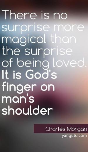 ... finger on man's shoulder! Thank You God For Having Your Finger On Me