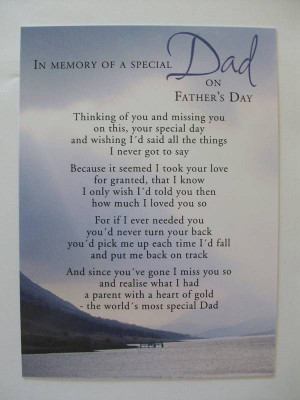 In Memory Of A Special Dad On Father's Day