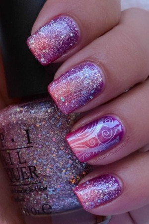 Pink and Purple Nail Designs