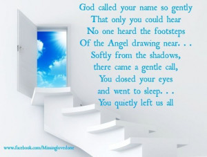 God called you home!