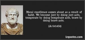 Quote on moral acts by Aristotle