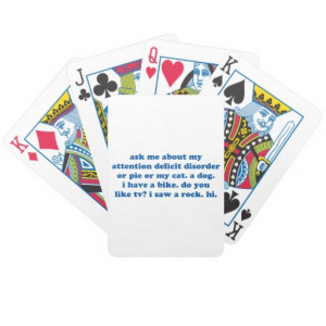 Funny Quotes Playing Cards