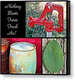 Farming Quotes Canvas Prints - Farm Fresh Air- Fine Art Canvas Print ...