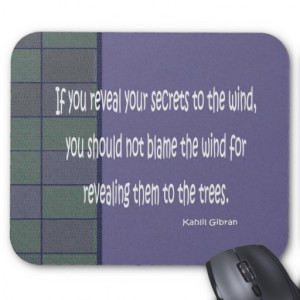 kahlil gibran quote mouse pad