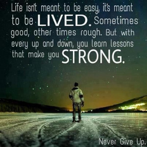 Life isn't meant to be easy..