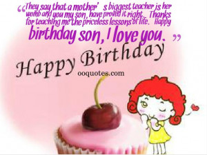 Birthday Quote For Son