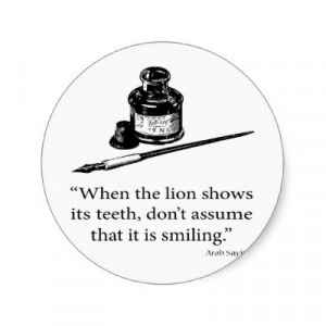 arab_saying_lion_smile_quote_quotes_sticker-p217550605217267919envb3 ...