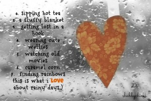 Comfort and Joy on a Rainy Day. . . .