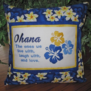 Home Decor #Hawaiian #Ohana #Family Embroidered Quote Pillow by ...