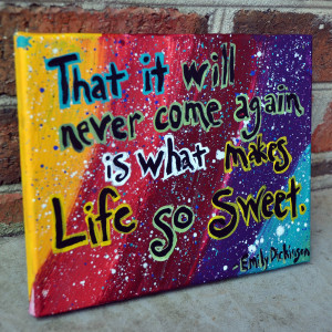 Emily Dickinson quote painting on 8x10 canvas by MelodyJoyDesigns