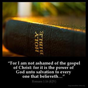 Romans 1:16 Inspirational Image