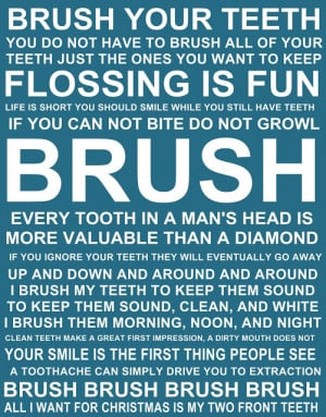 Brush your teeth quotes and sayings FREE PRINTABLE