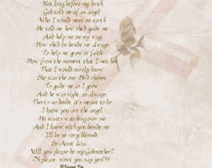 Will You Be My Godmother/Godfather/Godparents Poem Personalized Poetry ...