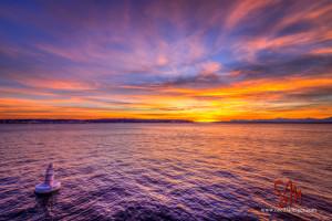 sunset, seattle, purple haze, ansel adams quote, photographer quotes
