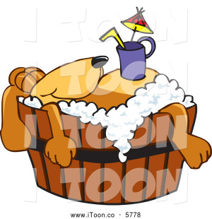 Free Cartoon of a Cute Brown Dog Mascot Cartoon Character with a Drink ...