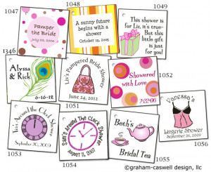 bridal shower tags click image to order bridal shower favors with ...