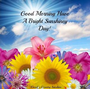 Good morning via Carol's Country Sunshine on Facebook