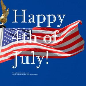 Happy 4th of July WORDS FLAG!