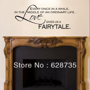 ... vinyl art fireplace wall decal quotes free shipping(China (Mainland