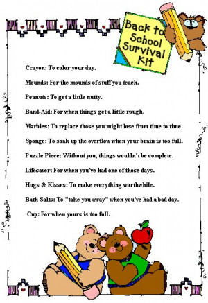 Back To School Survival Kit ~Version 1