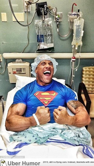 ... this pic from his hospital after undergoing emergency hernial surgery