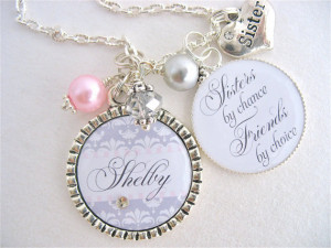 BEST FRIENDS Wedding Quote Bridal Jewelry Sisters by chance friends ...