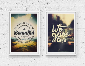 Do it yourself Printable Typographic Quote Home by Promopocket, $8.00