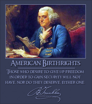 Ben Franklin Quote On Liberty and Security, Benjamin Franklin Quotes ...