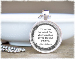 ... Quote Pendant - Nirvana Quote Pendant - Inspirational Music Quote