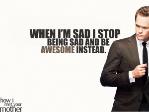 Home » TV Series » How I Met Your Mother TV Show Quotes Wallpaper