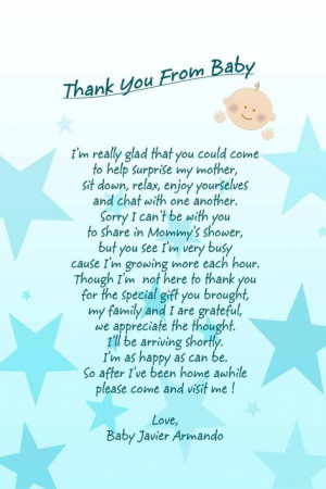 Permalink to Thank You Quotes For Baby Shower