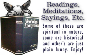 Alcoholics Anonymous Quotes and Sayings
