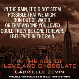 In the Age of Love and Chocolate by Gabrielle Zevin http://us ...