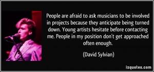 More David Sylvian Quotes