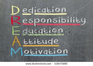 Dedication, responsibility, education, attitude, motivation - DREAM ...
