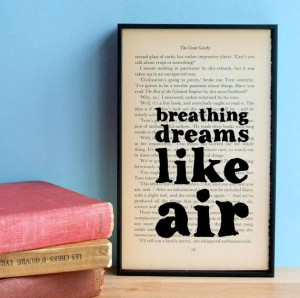 The Great Gatsby quote Breathing Dreams vintage by wallenvyart, £24 ...