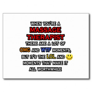 Funny Massage Therapist ... OMG WTF LOL Post Cards