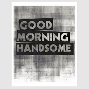 husband boyfriend distressed style good morning by EcoPrint