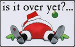 santa, funny quotes, is it over yet