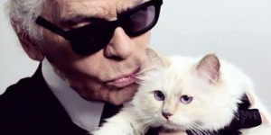 Karl Lagerfeld & his cat Choupette (© Choupette Lagerfeld via ...