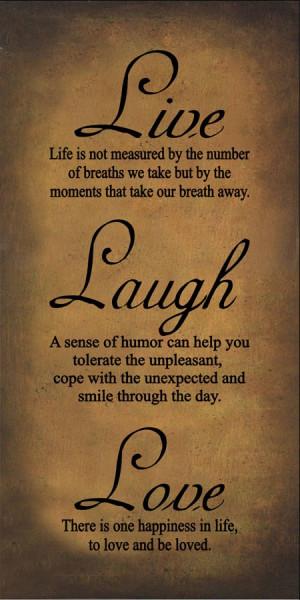 Live Love Laugh Quotes